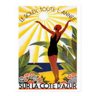 La Côte d'Azur vintage, France - Carte Postale