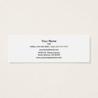La couleur solide simplement blanche le mini carte de visite