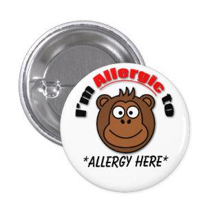 La coutume badine l'insigne d'allergie badge rond 2,50 cm