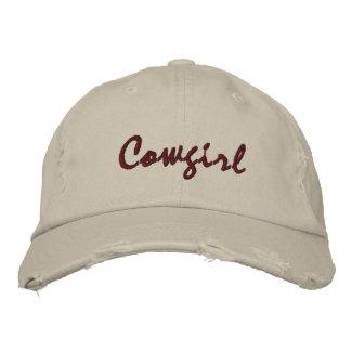 La cow-girl a brodé les femmes en pierre de casquette brodée