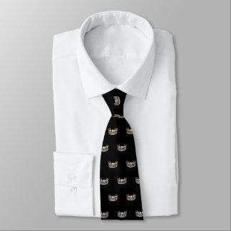 La cravate des hommes argentés de couronne de la