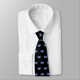 La cravate des hommes bleus de couronne de la Mlle