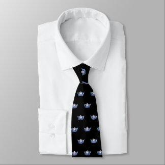 La cravate des hommes bleus de couronne de Mlle