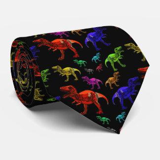 La cravate des hommes de couleur de T-Rexs