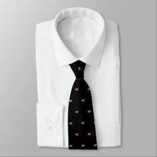 La cravate des hommes de couronne d'étoile de rose