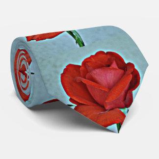 La cravate des hommes de rose rouge