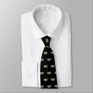 La cravate des hommes vert pomme de couronne de la