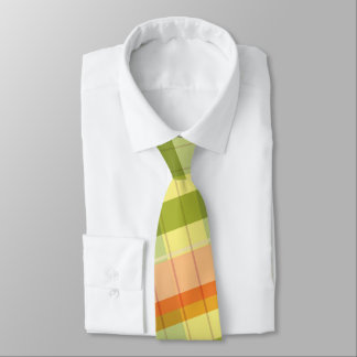 la cravate d'hommes de couleurs de plaid de chute