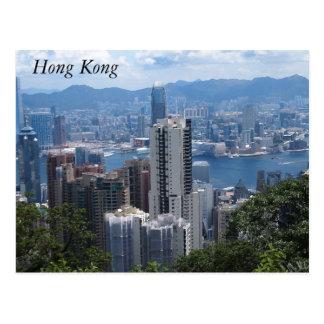 La crête de Victoria en carte postale de Hong Kong