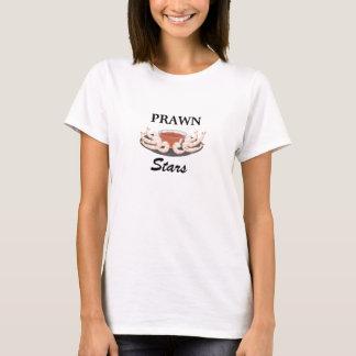 La crevette rose tient le premier rôle le T-shirt
