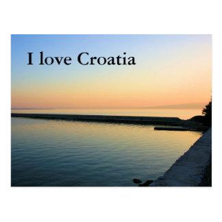La Croatie, la carte de lettre