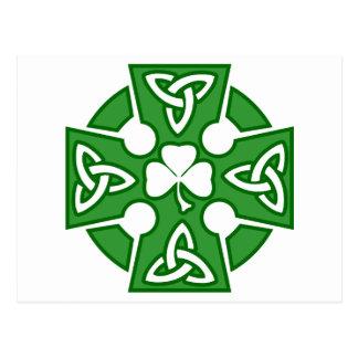 La croix celtique de St Patrick Carte Postale