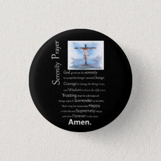 La croix de Jésus de prière de sérénité Badge Rond 2,50 Cm