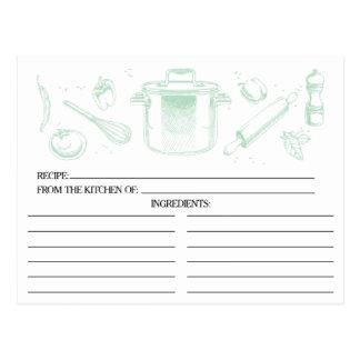 La cuisine esquissée verte en bon état usine des carte postale