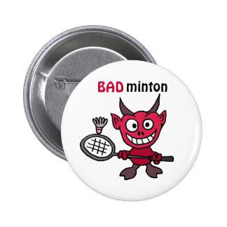 La CZ diable jouant la bande dessinée de badminton Badge Rond 5 Cm