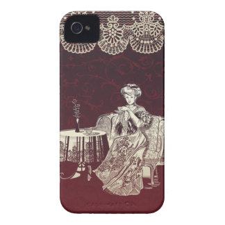 la dame boit du thé coques iPhone 4