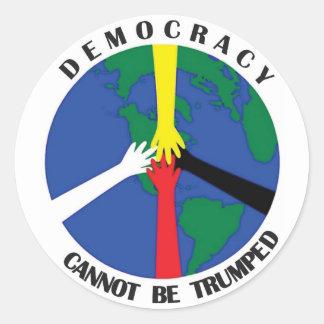 La démocratie ne peut pas Trumped - autocollant