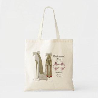 La demoiselle d'honneur personnalisent épouser le sac en toile budget