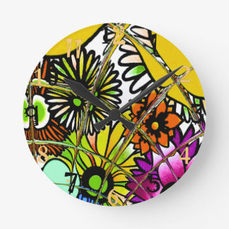 La dernière conception florale extraordinaire horloge ronde