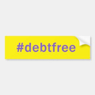 La dette de Hashtag libèrent l'adhésif pour Autocollant De Voiture