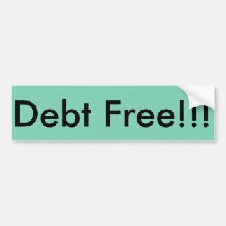 La dette libèrent l'autocollant autocollant de voiture