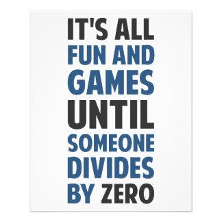 La division par zéro n'est pas un jeu prospectus 11,4 cm x 14,2 cm