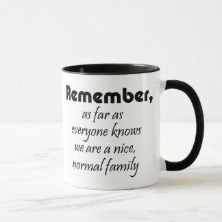 La famille drôle de tasses cite des coffeecups de
