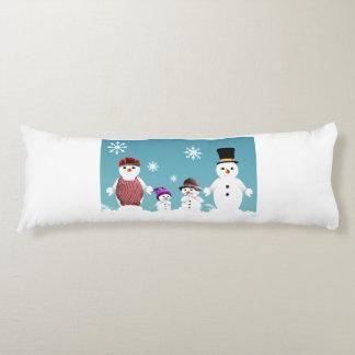 La famille du bonhomme de neige mignon pour Noël Coussins Longs