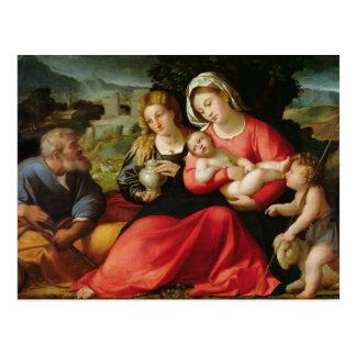 La famille sainte, c.1508-12 (huile sur la toile) carte postale