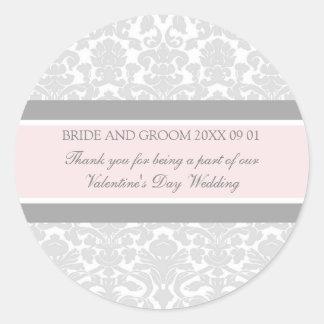 La faveur de mariage de Saint-Valentin étiquette Sticker Rond