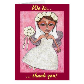 La fée et les roses nuptiales - merci des cartes
