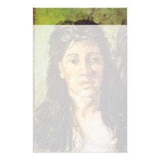 La femme de Van Gogh | avec ses cheveux desserrent Papier À Lettre Customisé
