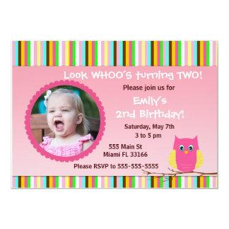 La fête d'anniversaire de fille d'invitation de carton d'invitation  12,7 cm x 17,78 cm