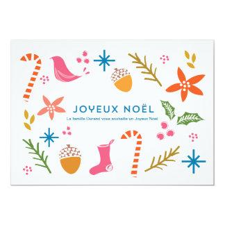 La fête de voeux de carte gribouille Joyeux Noël Carton D'invitation 12,7 Cm X 17,78 Cm