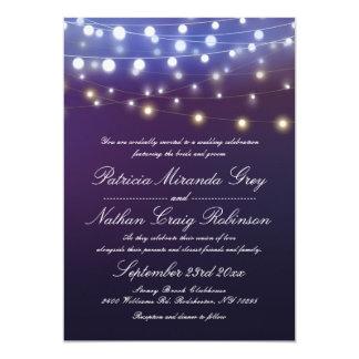 La ficelle allume le mariage de soirée carton d'invitation  12,7 cm x 17,78 cm