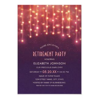 La ficelle créative allume la partie de retraite carton d'invitation  12,7 cm x 17,78 cm