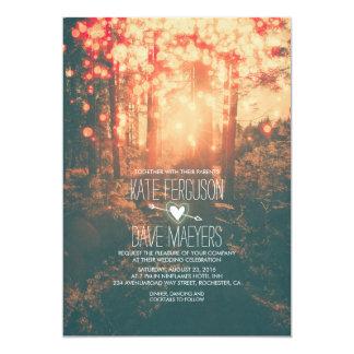 La ficelle de forêt allume le mariage inspiré par carton d'invitation  12,7 cm x 17,78 cm