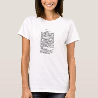 La fierté de Jane Austen et l'extrait de chapitre T-shirt