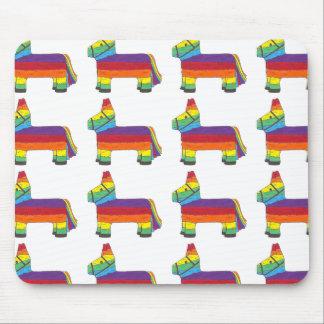 La fiesta de cadeau de Piñata d'âne d'arc-en-ciel Tapis De Souris