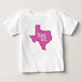 La fille étoilée du Texas badine le T-shirt - rose