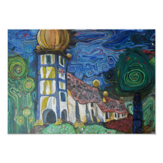 La fine art inspired by Hundertwasser