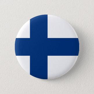 la Finlande Badge Rond 5 Cm
