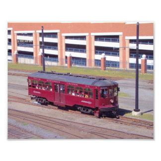La flèche rouge raye la voiture vintage #76 de photo sur toile