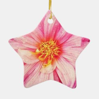 La fleur rose de dahlia Dble-A dégrossi ornement
