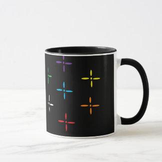 la fleur roule la tasse de café
