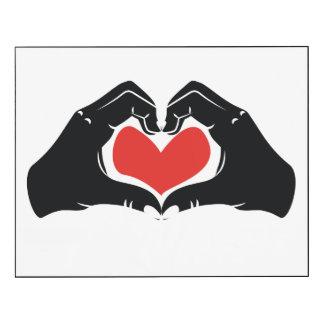 La forme de coeur remet l'illustration avec les