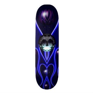 La fractale de bulle et de crâne conçoivent skateboard customisable