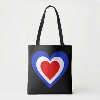 La France/coeur français drapeau-a inspiré le sac