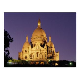 La France, Paris, Sacré-Coeur au crépuscule Cartes Postales