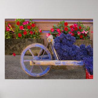 La France, Provence, Sault. Vieux chariot en bois